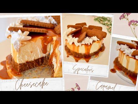 cheesecake-spéculoos-et-caramel-beurre-salé-❀-recette-simplifiée-sans-cuisson