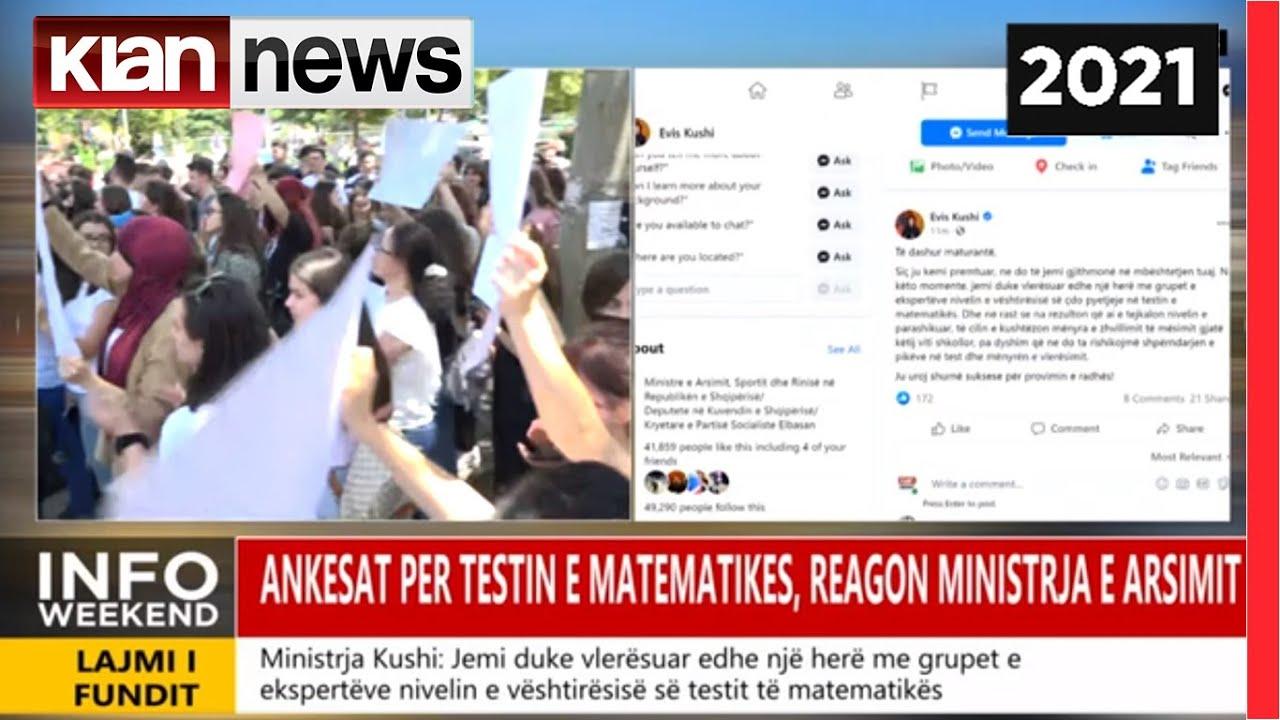 Download Maturantet zhvendosin protesten perpara QSHA, reagon ministria e Arsimit