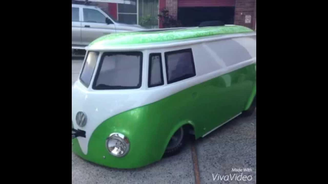 Bag'd Bus - Custom Kids VW Bus on Air Ride - YouTube