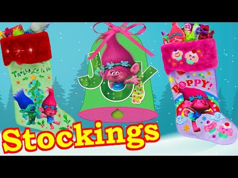 Trolls Holiday Movie Themed Christmas Stocking   Surprise Toys Holiday Gifts Compilation