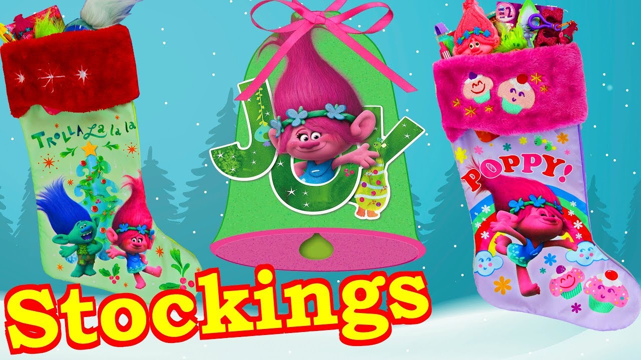 Trolls Holiday Movie Themed Christmas Stocking Opening + Surprise ...