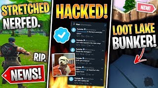 Fortnite HACKED, Stretched Res Nerf, Metal Bunker Leaked, Gifting & More! (Fortnite News)