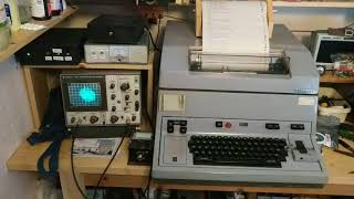 Creed 444 teleprinter with 45.45 baud gear RTTY (AKA - RTTY the hard way)
