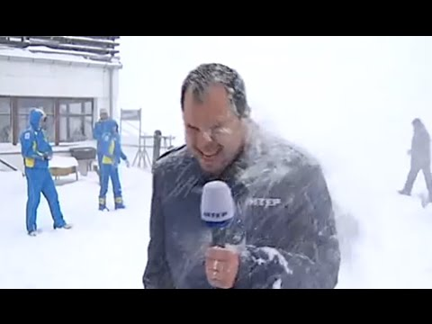 Tv Reporters Vs Snow - Funny Winter News Bloopers