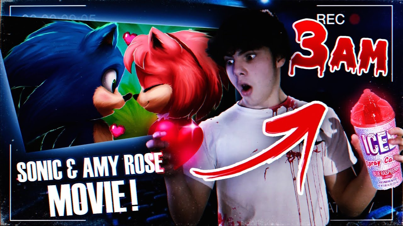 DO NOT WATCH THE SONIC THE HEDGEHOG AND AMY ROSE MOVIE AT 3AM!! (THEY WERE KISSING)