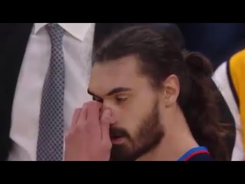 Steven Adams Nose Broken By Crowder Snaps Back Into Place Game 4 Thunder vs Jazz