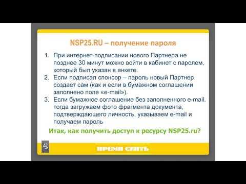 Сервис NSP25 RU  Работа в панели управления часть 1