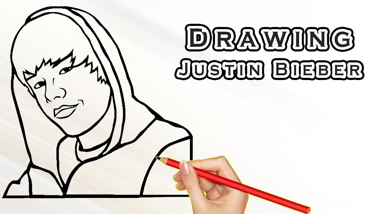 Drawing Justin Bieber Drawing Famous People Draw Easy For Kids