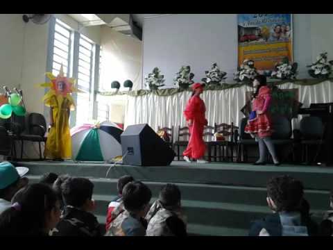 O guarda chuva colorido - Ministério Infantil - IEQ Cristal Porto Alegre