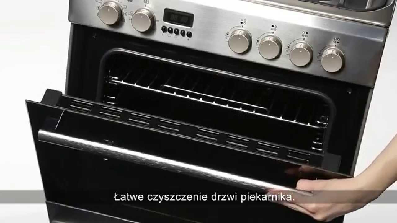 Drzwi piekarnika z wewnętrzną, wyjmowaną szybą  RTV EURO   -> Plyta Gazowa Retro Mastercook