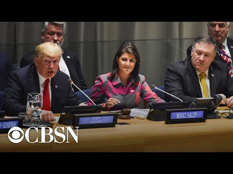 Watch Live: Mike Pompeo, John Bolton, and Nikki Haley hold press conference on sidelines of UNGA