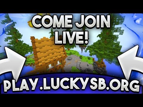 MY SERVER LAUNCH LIVE! Come Join! Play.Luckysb.org