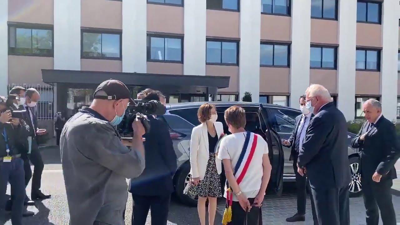 Visite de Florence Parly, ministre des Armées, à Limeil-Brévannes dans le Val-de-Marne | Sodern