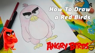 How To Draw a Red Birds from Angry Birds Movie 2016