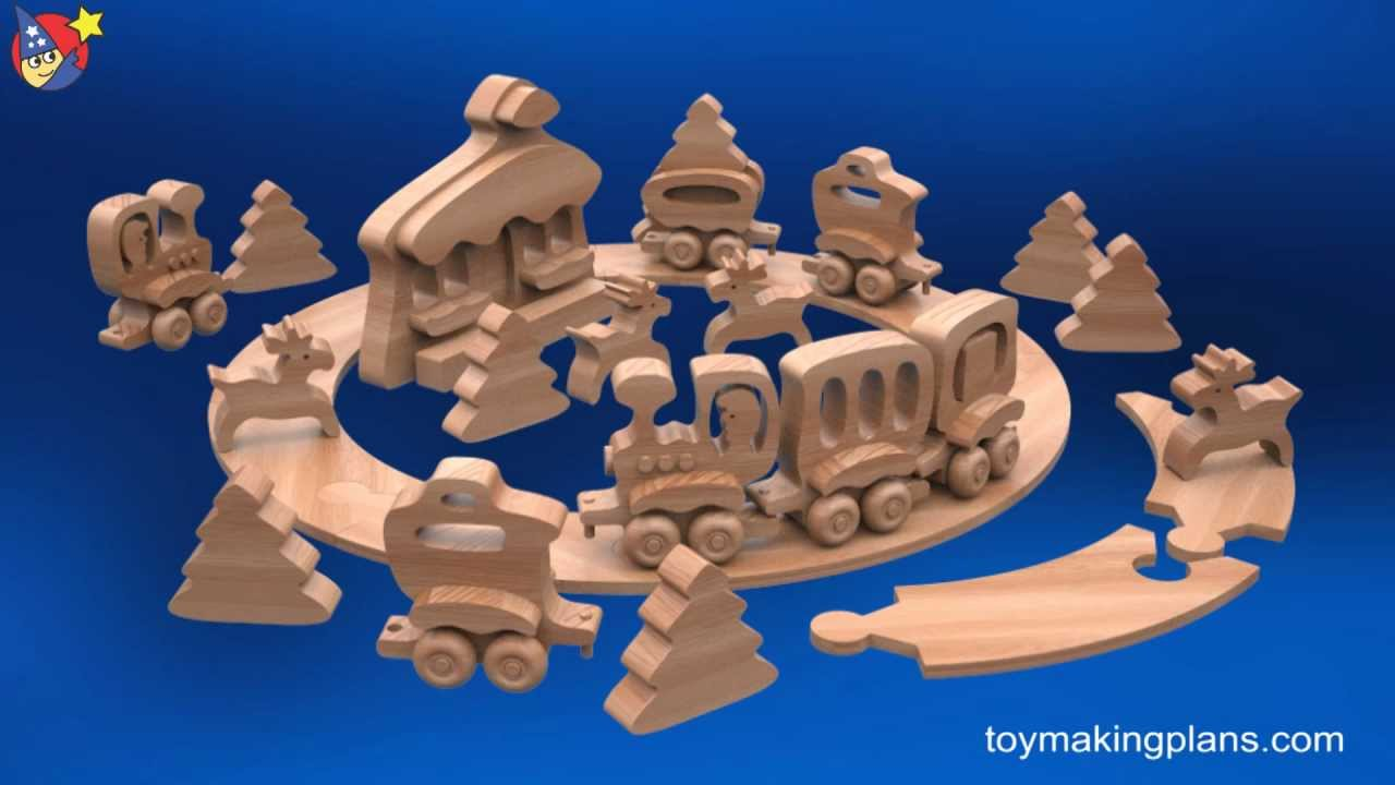 Wood Toy Plans Christmas Tree Train Youtube