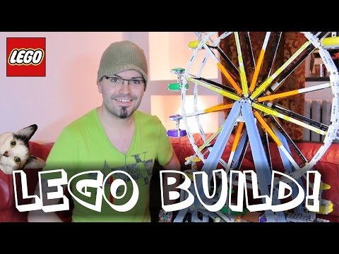Lego Ferris Wheel 10247   Time-lapse Build / Unboxing & Review!