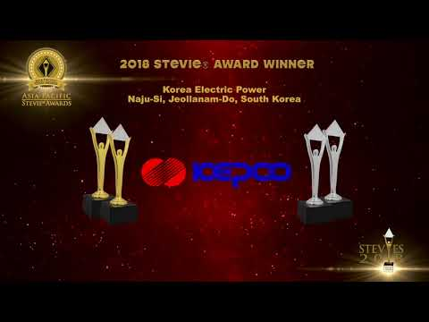 Korea Electric Power wins in the 2018 Asia-Pacific Stevie Awards