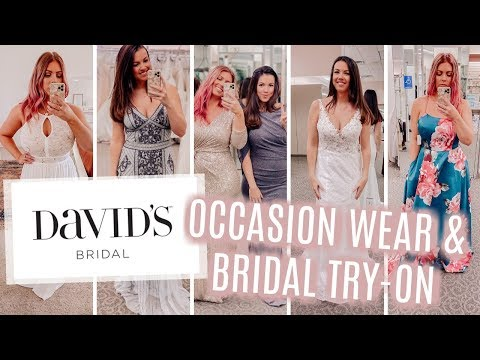 my-sister-&-i-tried-on-dresses-at-david's-bridal-|-occasion-wear-&-wedding-dresses
