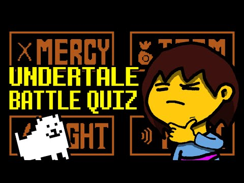 Undertale Interactive Quiz - Battles