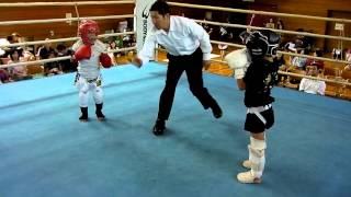 02:野畑歩希vs有馬煌晴(2013年9月23日第16回ジュニアグローブマッチsモスキート級1回戦)