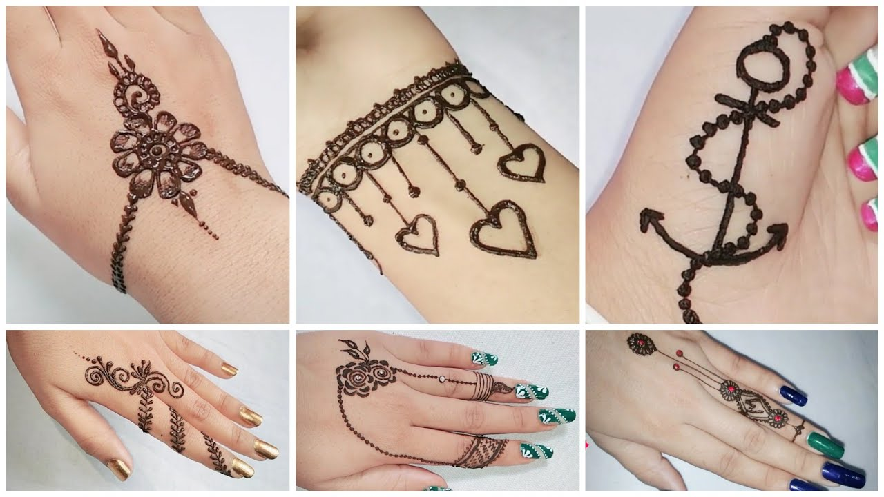 Beautiful Mehndi Designs For Beginners Easy Quick Mehndi Designs For Hand Youtube