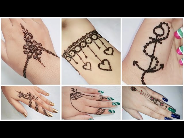 Beautiful mehndi designs for beginners   Easy & Quick mehndi designs for hand  
