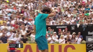 Hot Shot: Federer Flies In For Drop Volley In Stuttgart 2018