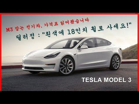 [딜러정 프리뷰] 국산 전기차 가격인 테슬라 모델 3!? 흰색 보디 18인치 휠로 사세요!