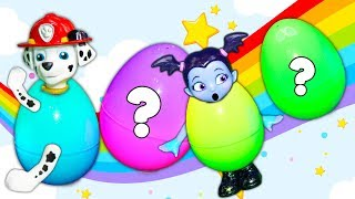 Paw Patrol and Muppet Babies  Surprise Egg Hide n Seek with Vampirina and mr man