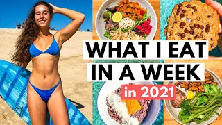 What I Eat In A Week To GET FIT In 2021  My Workout Routine &amp Realistic New Year&#39s Resolutions