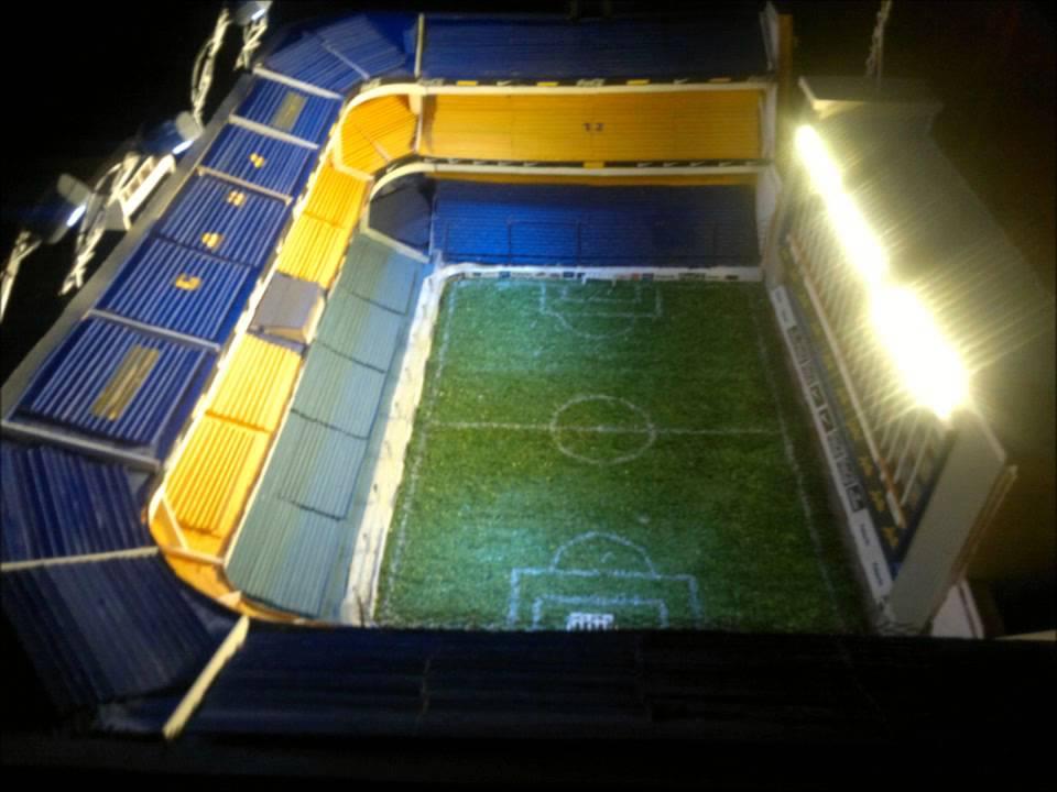 Maqueta de la bombonera estadio juan roman riquelme for Como hacer gradas