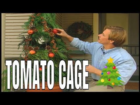 Tomato cage christmas trees youtube - Make your own christmas tree decorations ...