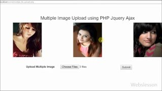 Multiple Images Upload using PHP Jquery Ajax