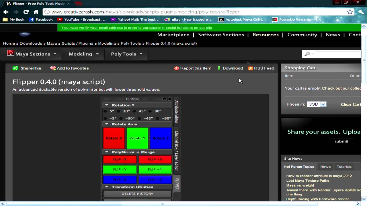 Autodesk Maya Tutorial (Installing a Mel Script - The