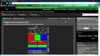 Autodesk Maya Tutorial (Installing a  Mel Script - The Flipper)