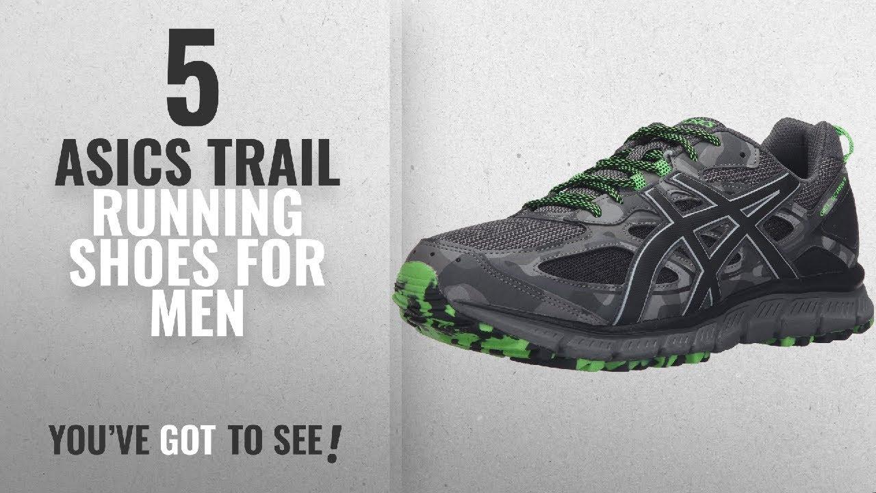 newest 02014 b532f Top 10 Asics Trail Running Shoes [2018 ]: ASICS Men's Gel-Scram 3 Trail  Runner, Carbon/Black/Green