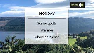 Monday Scotland weather forecast 02/08/21