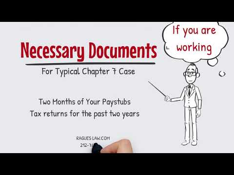 What documents do I need to file Bankruptcy