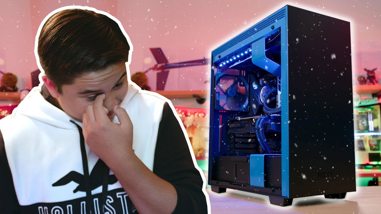 He expected a $500 PC. We surprised him with a $3000 setup instead! #merrychristmas