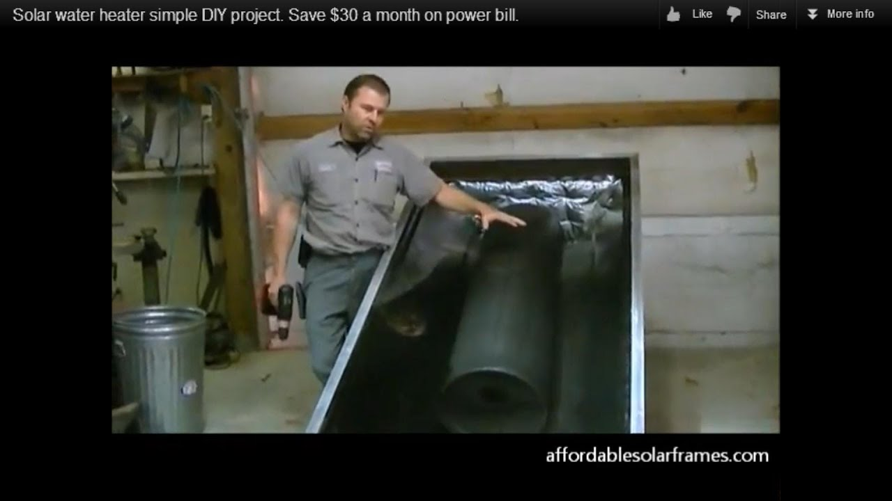 How To Build A Solar Water Heater Simple Diy Project