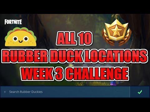 Search Rubber Duckies Fortnite Week 3 Challenges!