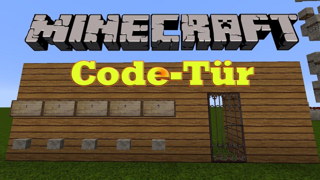 minecraft code t r bauen einfach deutsch hd youtube. Black Bedroom Furniture Sets. Home Design Ideas