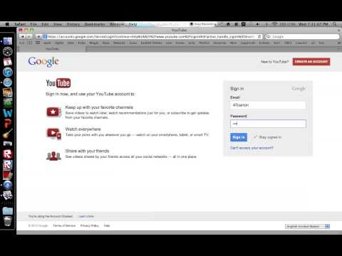 How to sign into youtube without you google account