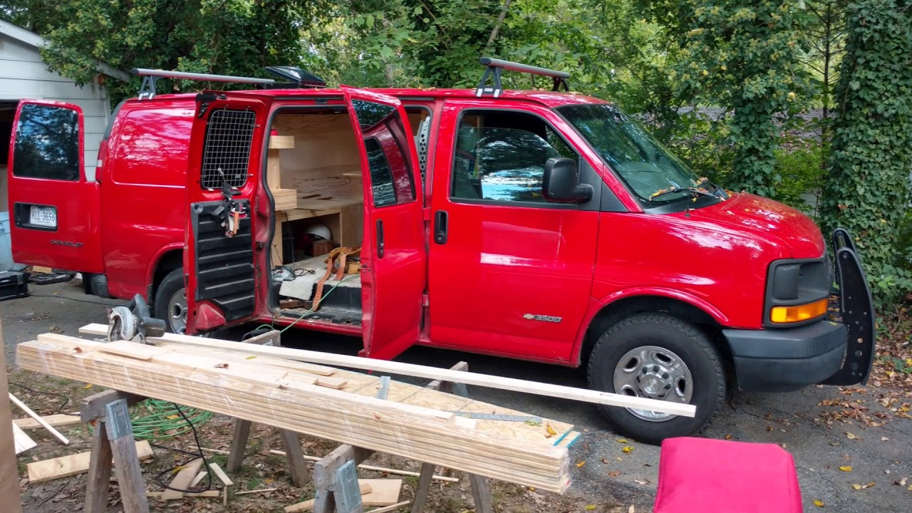Chevy Express Work Van To Stealth Camper Van Conversion ...