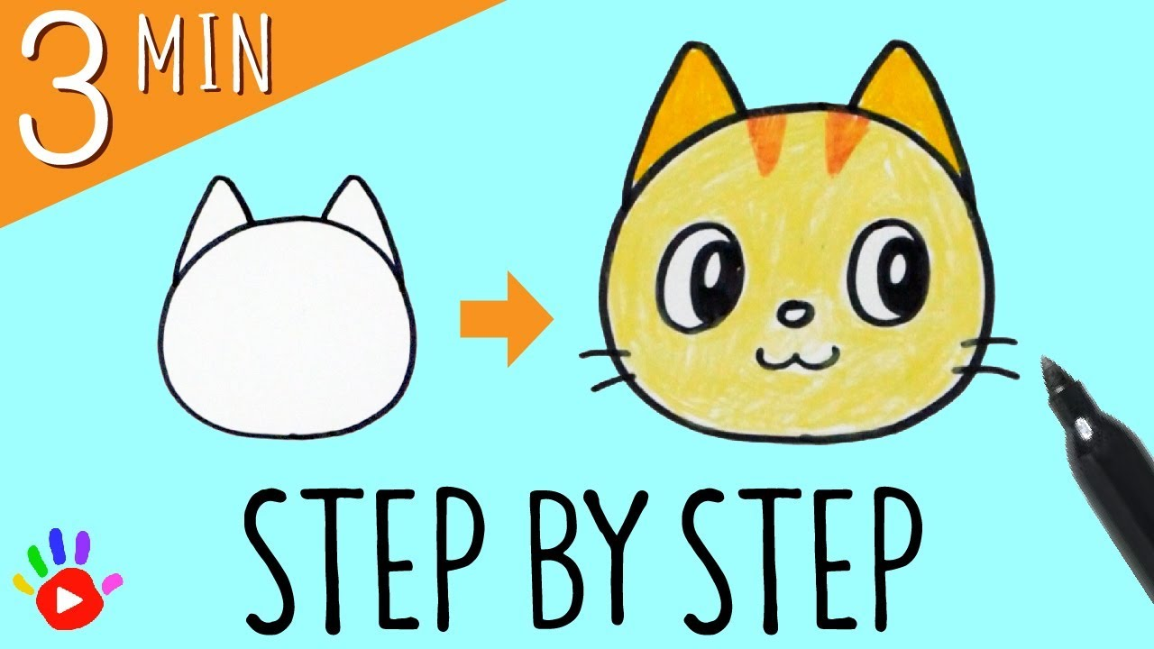 How To Draw A Cat S Face Slow Easy Drawing Tutorial For Kids