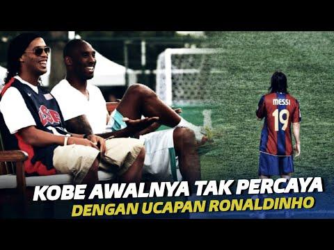 Inilah Yang Diucapkan Ronaldinho Pada Kobe Bryant Tentang Messi Yang Kini Jadi Kenyataan