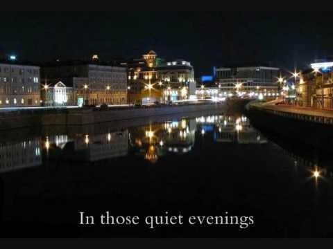 Podmoskovnye Vechera (Moscow Nights) + english translation lyrics