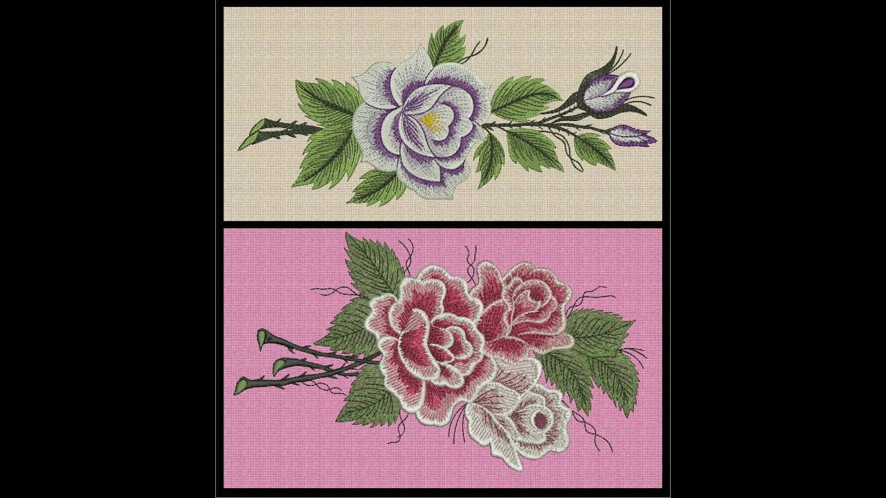 Pacote Com 61 Desenhos De Bordados De Flores Youtube