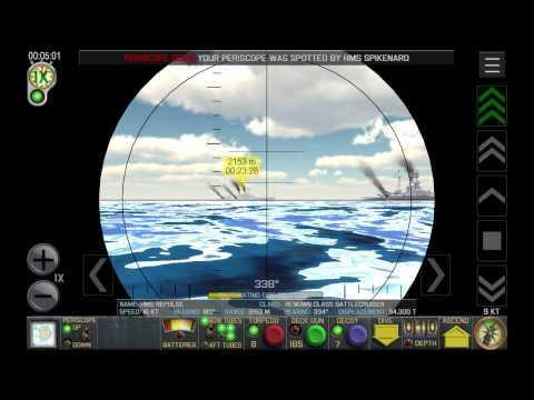 Crash Dive submarine simulator (Android gameplay video)