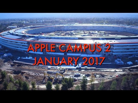 APPLE CAMPUS 2: Mid January 2017 Construction Update